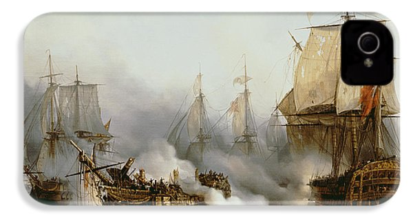 Battle Of Trafalgar IPhone 4 / 4s Case by Louis Philippe Crepin