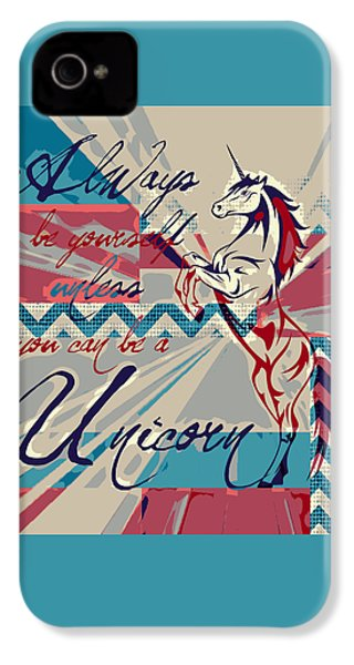 Be A Unicorn 1 IPhone 4 / 4s Case by Brandi Fitzgerald