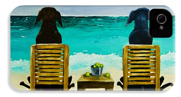 Beach Bums IPhone 4 / 4s Case by Roger Wedegis