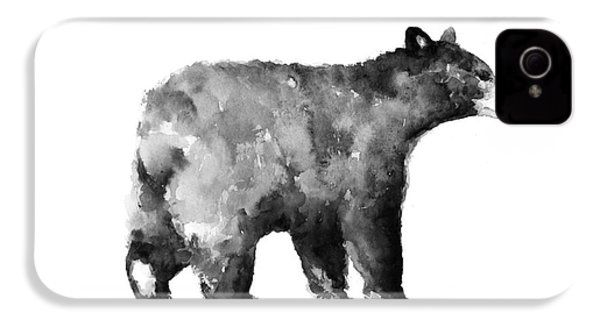 Bear Watercolor Drawing Poster IPhone 4 / 4s Case by Joanna Szmerdt
