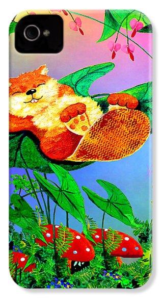 Beaver Bedtime IPhone 4 / 4s Case by Hanne Lore Koehler