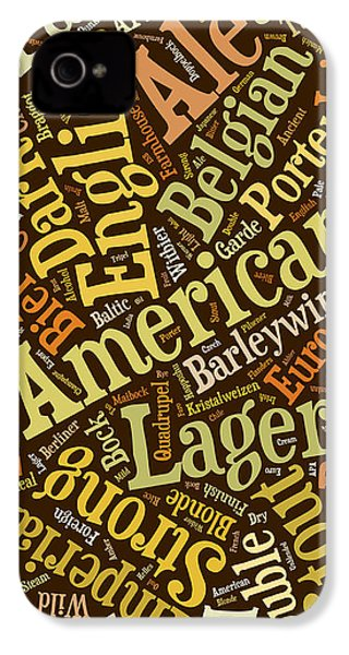 Beer Lover Cell Case IPhone 4 / 4s Case by Edward Fielding