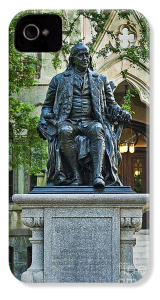 Ben Franklin At The University Of Pennsylvania IPhone 4 / 4s Case by John Greim