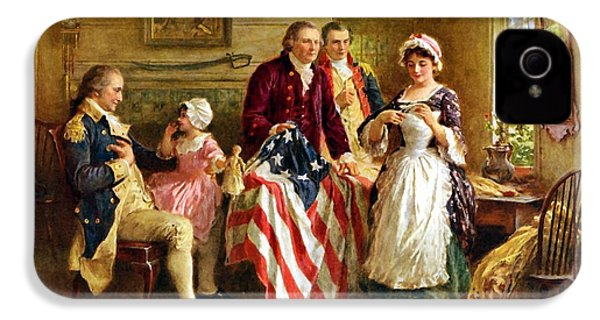 Betsy Ross And General George Washington IPhone 4 / 4s Case by War Is Hell Store
