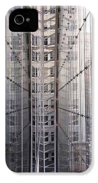 Between Glass Walls IPhone 4 / 4s Case by Rona Black