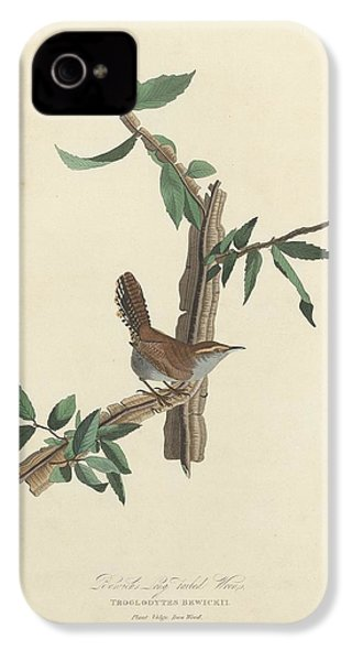 Bewick's Long-tailed Wren IPhone 4 / 4s Case by John James Audubon