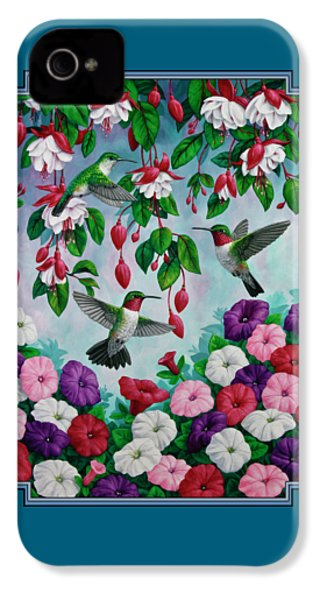 Bird Painting - Hummingbird Heaven IPhone 4 / 4s Case by Crista Forest