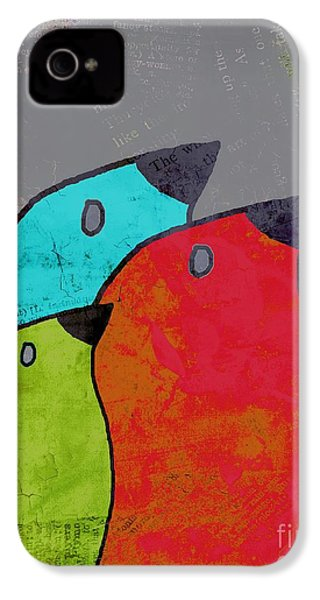 Birdies - V11b IPhone 4 / 4s Case by Variance Collections