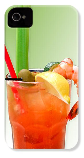 Bloody Mary Hand-crafted IPhone 4 / 4s Case by Christine Till