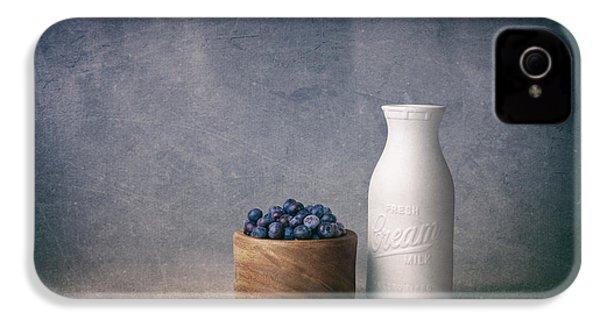 Blueberries And Cream IPhone 4 / 4s Case by Tom Mc Nemar