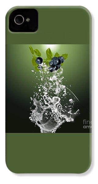 Blueberry Splash IPhone 4 / 4s Case by Marvin Blaine