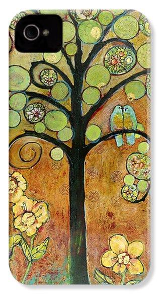 Bluebirds In Paradise Tree IPhone 4 / 4s Case by Blenda Studio