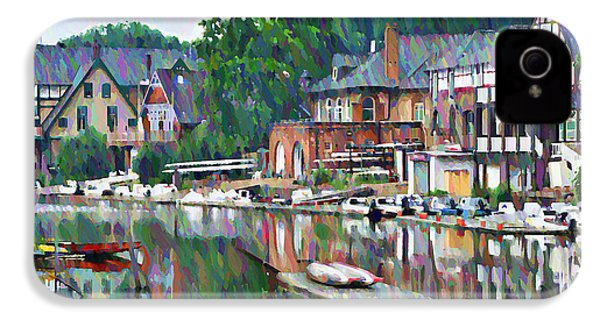 Boathouse Row In Philadelphia IPhone 4 / 4s Case by Bill Cannon