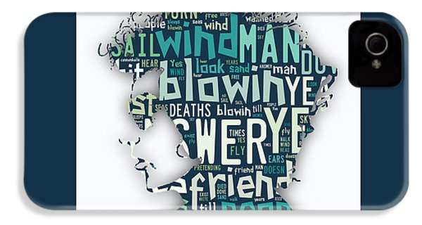 Bob Dylan Blowin In The Wind IPhone 4 / 4s Case by Marvin Blaine