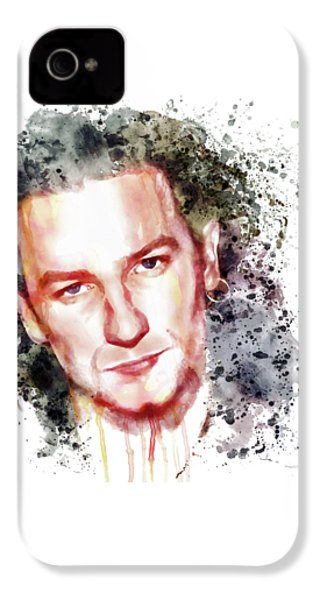 Bono Vox IPhone 4 / 4s Case by Marian Voicu
