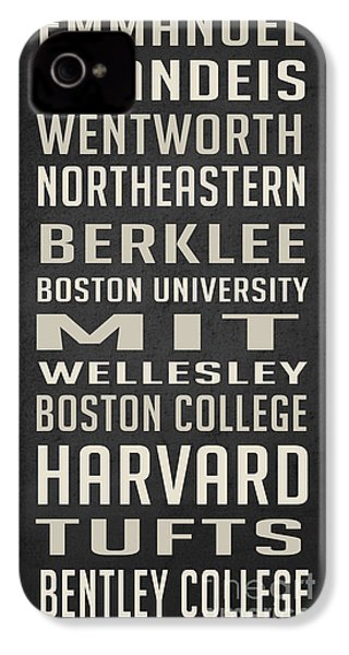Boston Colleges Poster IPhone 4 / 4s Case by Edward Fielding