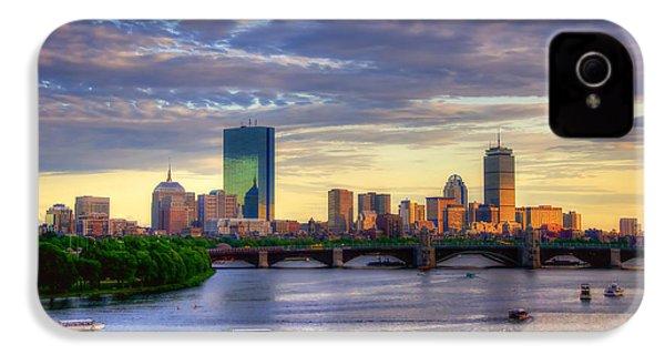 Boston Skyline Sunset Over Back Bay IPhone 4 / 4s Case by Joann Vitali