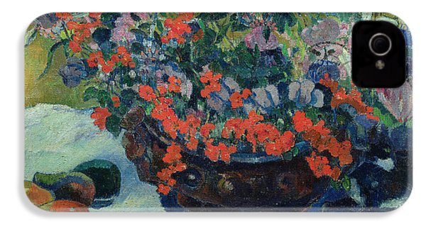 Bouquet Of Flowers IPhone 4 / 4s Case by Paul Gauguin