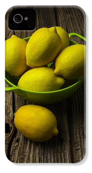 Bowl Of Lemons IPhone 4 / 4s Case by Garry Gay