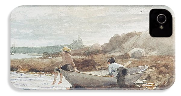 Boys On The Beach IPhone 4 / 4s Case by Winslow Homer
