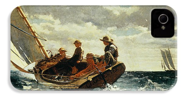 Breezing Up IPhone 4 / 4s Case by Winslow Homer