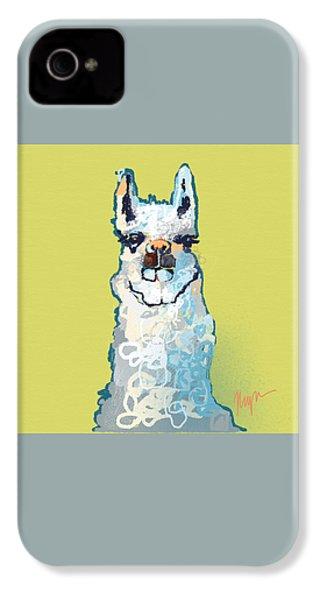 Bright Mustard Llama IPhone 4 / 4s Case by Niya Christine
