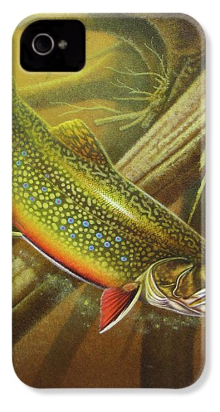 Brook Trout Cover IPhone 4 / 4s Case by JQ Licensing
