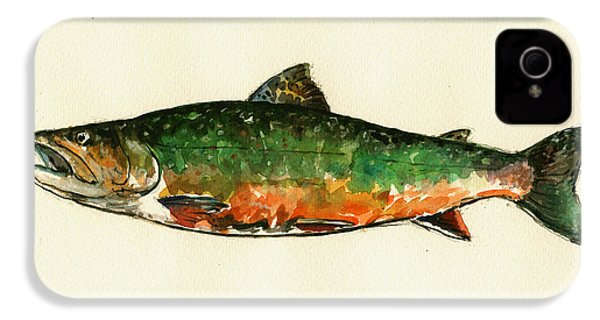 Brook Trout IPhone 4 / 4s Case by Juan  Bosco