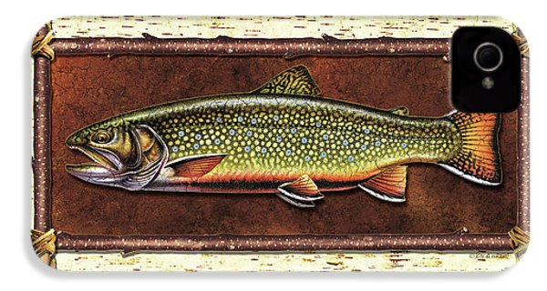 Brook Trout Lodge IPhone 4 / 4s Case by JQ Licensing