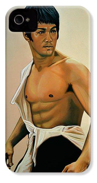 Bruce Lee Painting IPhone 4 / 4s Case by Paul Meijering