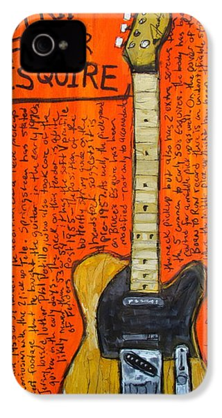 Bruce Springsteen's Fender Esquire IPhone 4 / 4s Case by Karl Haglund