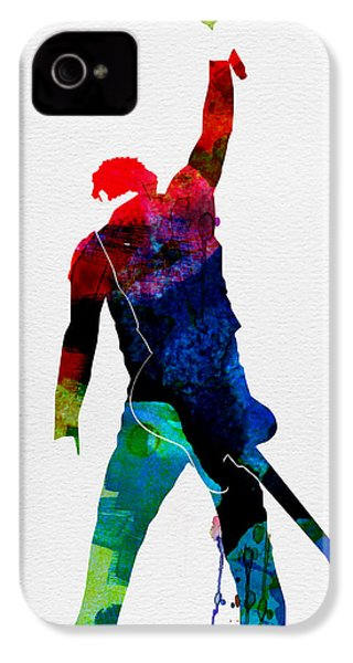 Bruce Watercolor IPhone 4 / 4s Case by Naxart Studio