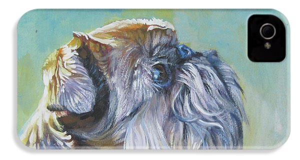 Brussels Griffon With Butterfly IPhone 4 / 4s Case by Lee Ann Shepard