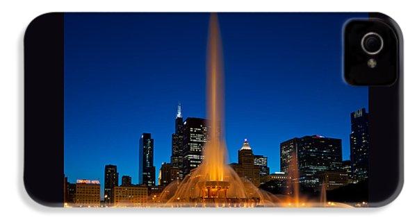 Buckingham Fountain Nightlight Chicago IPhone 4 / 4s Case by Steve Gadomski