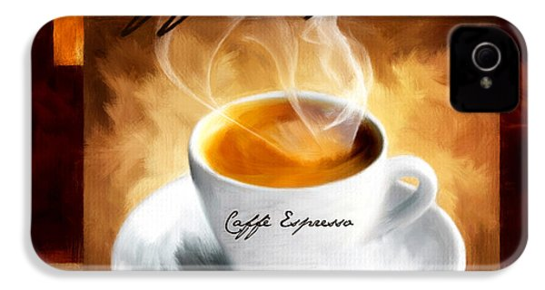Caffe Espresso IPhone 4 / 4s Case by Lourry Legarde