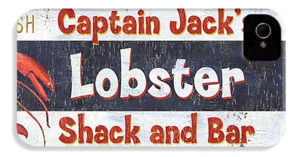 Captain Jack's Lobster Shack IPhone 4 / 4s Case by Debbie DeWitt