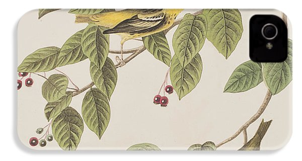 Carbonated Warbler IPhone 4 / 4s Case by John James Audubon