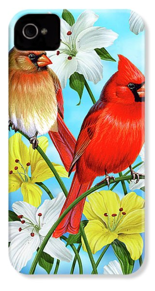 Cardinal Day IPhone 4 / 4s Case by JQ Licensing