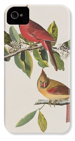 Cardinal Grosbeak IPhone 4 / 4s Case by John James Audubon