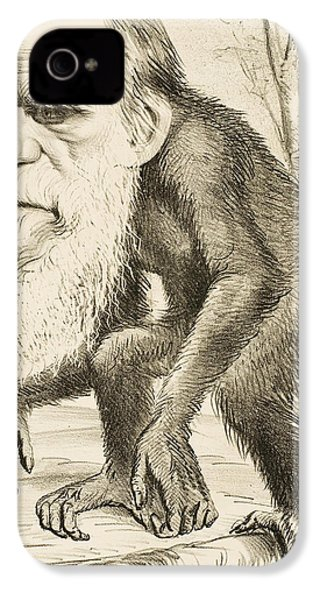 Caricature Of Charles Darwin IPhone 4 / 4s Case by English School