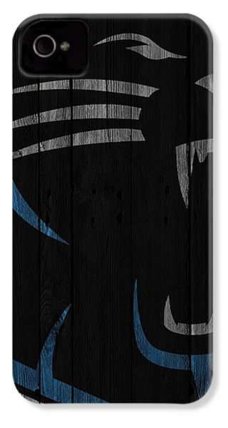Caroilina Panthers Wood Fence IPhone 4 / 4s Case by Joe Hamilton