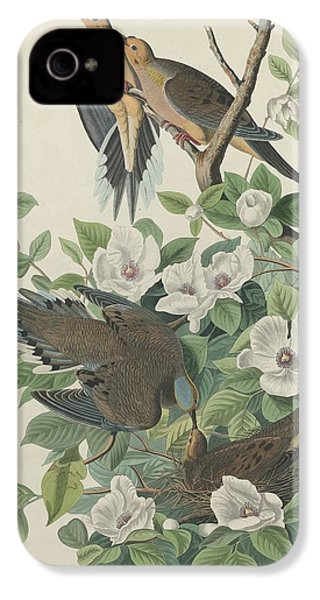 Carolina Pigeon Or Turtle Dove IPhone 4 / 4s Case by John James Audubon