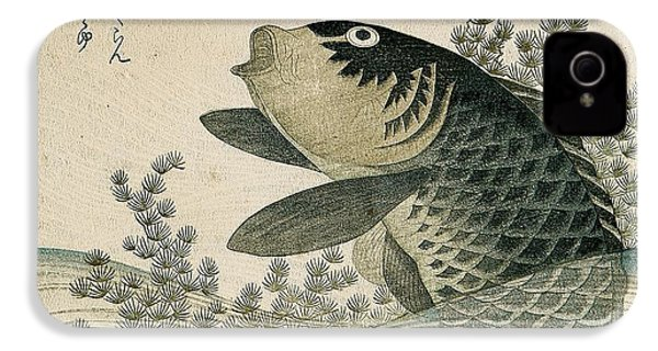Carp Among Pond Plants IPhone 4 / 4s Case by Ryuryukyo Shinsai