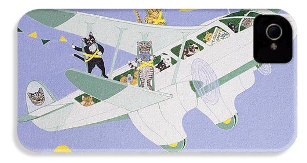 Cat Air Show IPhone 4 / 4s Case by Pat Scott