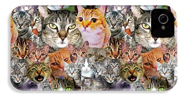 Cats IPhone 4 / 4s Case by Gloria Sanchez