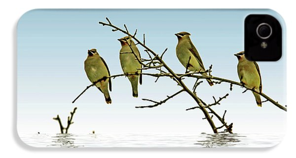 Cedar Waxwings On A Branch IPhone 4 / 4s Case by Geraldine Scull