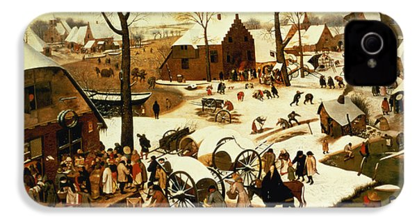 Census At Bethlehem IPhone 4 / 4s Case by Pieter the Elder Bruegel