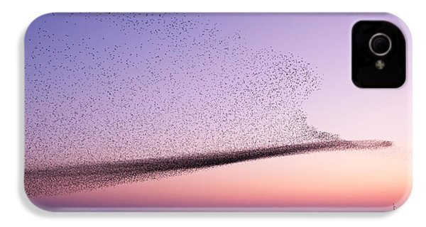 Chaos In Motion - Starling Murmuration IPhone 4 / 4s Case by Roeselien Raimond