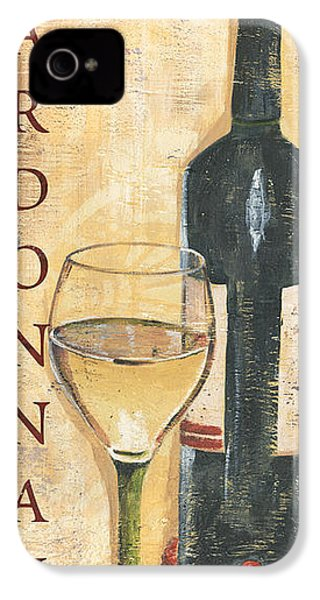 Chardonnay Wine And Grapes IPhone 4 / 4s Case by Debbie DeWitt