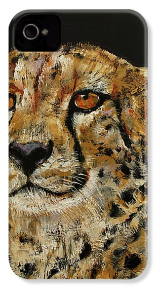 Cheetah IPhone 4 / 4s Case by Michael Creese